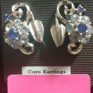 Coro clip on earrings